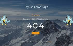 stylish page stylish error page responsive widget template