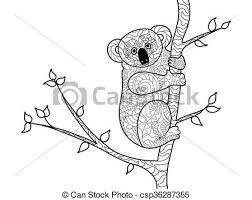 koala bear coloring book for s vector