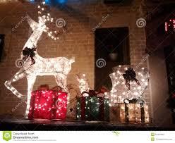 Reindeer Christmas Lights Outdoor Reindeer Christmas Lights Stock Image Image Of Christmas