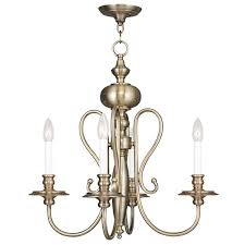 livex 5164 01 caldwell antique brass mini chandelier light loading zoom