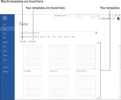 Use Templates How To Use Templates In Word 2013 Dummies