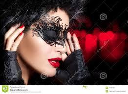 creative artistic masquerade makeup high fashion portrait