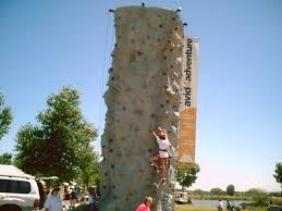 climbing walls here one smallest children practice