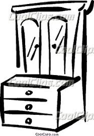 dresser clipart black and white. dresser clipart #coolclips_vc037091 black and white t