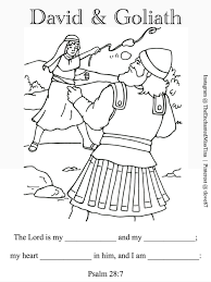 Small Picture David and Goliath coloring page Psalm 287 fill in memory verse