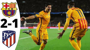 Barcelona 2-1 Atletico Madrid ○ All Goals & Extended Highlights 2015-16 -  YouTube