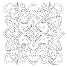 Free Easy Mandala For Beginners Adult Coloring Book Image From