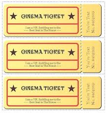 Ticket Template Luxury Concert Gift Certificate Syncla Co