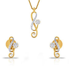 love is new diamond gold pendant set cjsps0360 y