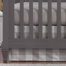 buffalo plaid crib skirt