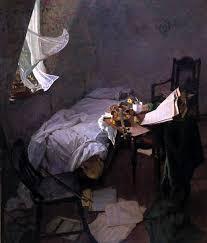 Priscilla Warren Roberts (1916 – 2001)   Bedroom interior art, Interior  paintings, Art