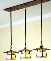 arts and crafts lighting the three light in line chandelier is one of many arts crafts arts and crafts lighting