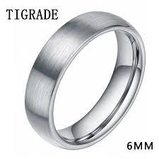 <b>8mm</b> Silver Tungsten Carbide <b>Ring Men</b> High Polished Edges ...