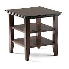 com simpli home acadian solid wood end table rich brown kitchen dining