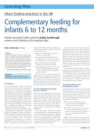 Pdf Complementary Feeding For Infants 6 To 12 Months