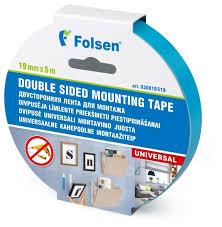<b>Клейкая лента</b> монтажная <b>Folsen</b> 30810519, 19 мм x 5 м — купить ...
