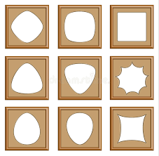 Modern Style Of Wood Frames Stock Vector Illustration of edge