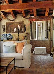Interior Inspiring L Shape Kitchen Decoration Using Limestone. Style Tuscan  ...
