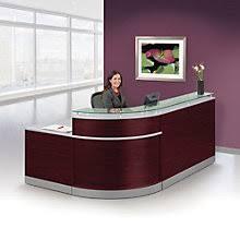modern desk office. Glass Top Reception Desk - 95\ Modern Office