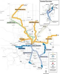 rtd light rail map  rtd denver light rail map (colorado  usa)