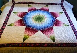 Amish Handmade and Patchwork Quilts for Sale   Amish Spirit & Amish Handmade Quilt Radiant Star Pattern Adamdwight.com