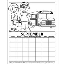 Printable Calendar Coloring Pages For Kids Archives Preschool Crafts