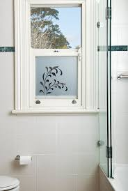 Custom made frosted window film by Frost & Co Window Film. Perfect for  bathrooms.