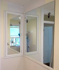 Recessed Bathroom Mirror Cabinets Framing Out The Medicine Cabinet Sconces Crown Molding