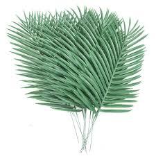 <b>10PCS Artificial Palm</b> Tree Faux Leaves Green <b>Plants</b> Greenery for ...