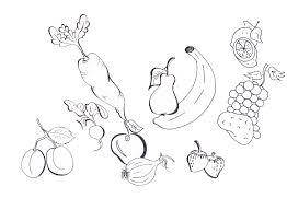 Disegni Di Frutta E Verdura Da Colorare Az Colorare