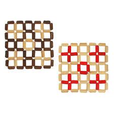 """<b>Подставка под горячее</b>, бамбук, """"Мозаика"""" <b>15х15см</b> (888-121 ..."""