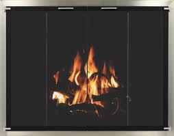 Portland Willamette Custom Rectangular Fireplace DoorsBlack Fireplace Doors