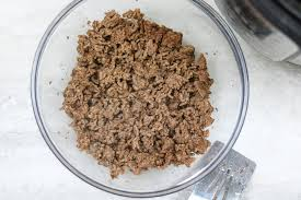 cooked ground turkey. Perfect Cooked A Clear Bowl Of Perfectly Tender Ground Beef Cooked From Frozen In Instant  Pot And Cooked Ground Turkey K