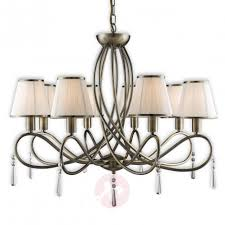 simplicity chandelier with eight fabric lampshades 8570621 31