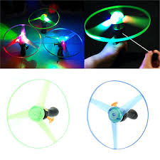 kids flying saucer ufo spin led light up toys gifts for baby children kids boomerang