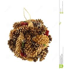 Pine Cone Christmas Decorations Hand Made Pine Cone Christmas Ornament Royalty Free Stock Images