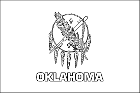 Oklahoma State Flag Coloring Page Only Coloring Pages