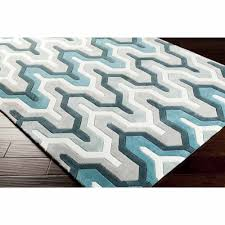 art of knot orleans hand tufted plush geometric area rug teal com