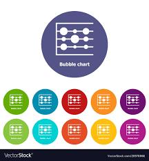 Free Bubble Chart Bubble Chart Icons Set Color