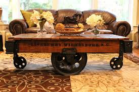 Industrial Coffee Table Cart Cool Cart Coffee Table To Liven Up Your Room