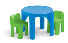 Plastic Table Chair Set Amazoncom Little Tikes Bright N Bold Table Chairs Green Blue