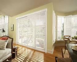 Wood Window Treatments Ideas Door Window Blinds Woven Wood Sliding Panel Amazing Window