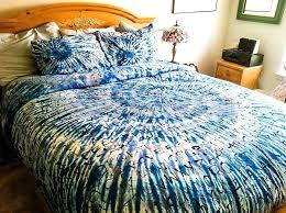 blue tie dye duvet cover