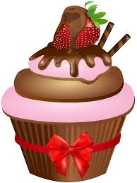 chocolate cupcakes clipart. Interesting Clipart Png Freeuse Chocolate Cupcakes Clipart Muffin With Strawberry On Cupcakes Clipart S