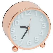 this lisa t rose gold metal desk clock is a decorative and stylish addition for your home combine it with our range of lisa t designed decor for a