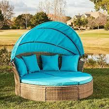 fairmont round wicker patio daybed