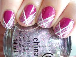 Nail Art Designs Using Striping Tape#%