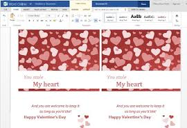 clic and elegant valentine s day greeting card template for word