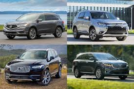 Suv Mileage Comparison Chart Top Fuel Efficient Suvs And Minivans With 3 Row Seating For
