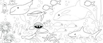 Seascape Ocean Colouring Page Marine Life Coloring Pages Seascape